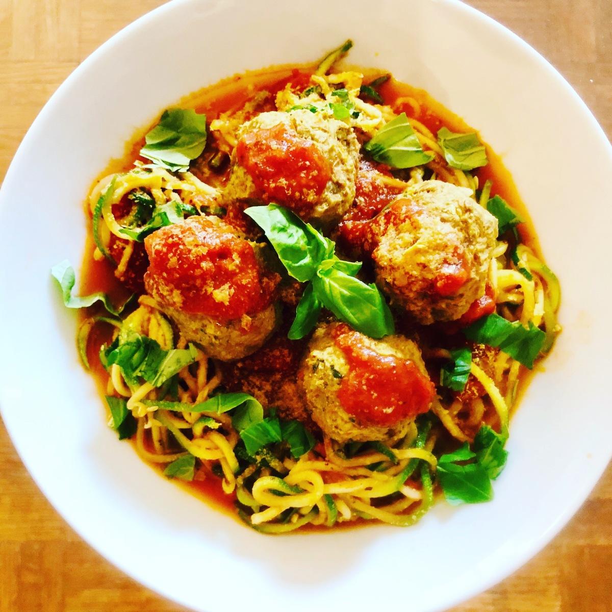 Lentil Meatballs and Zoodles🍝