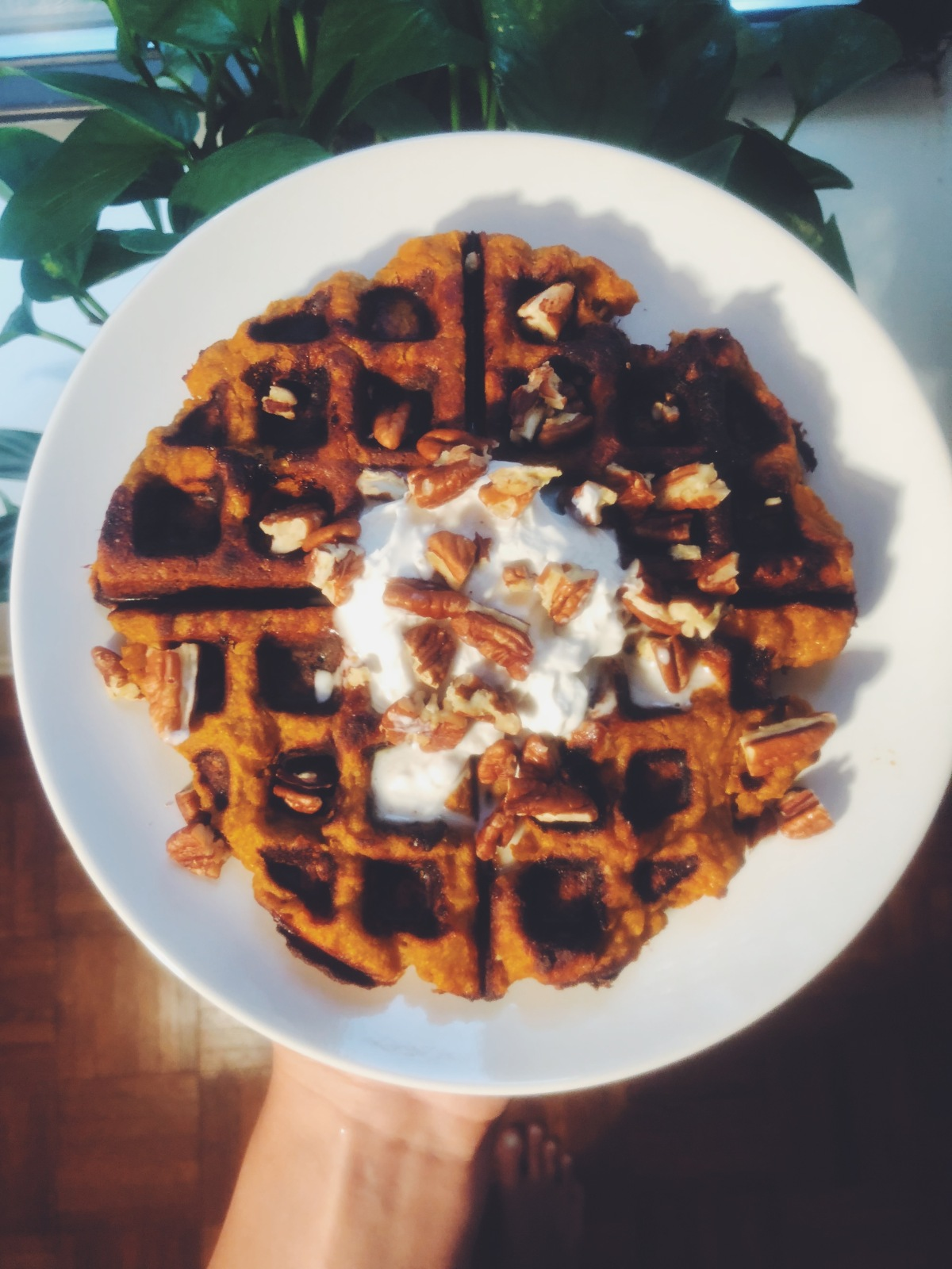 Sweet Potato Waffles🍠🍂🍁