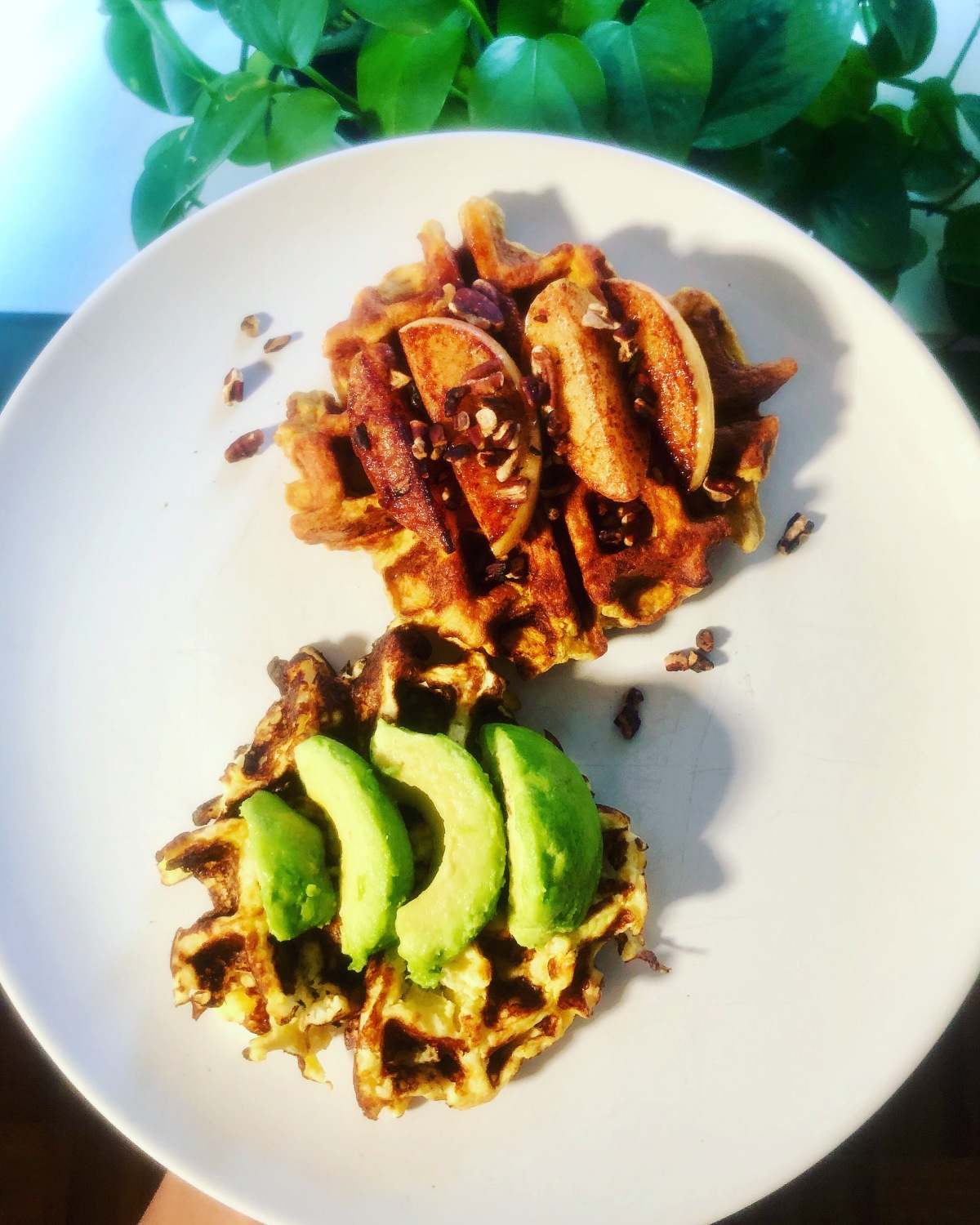 Riced Cauliflower Waffles