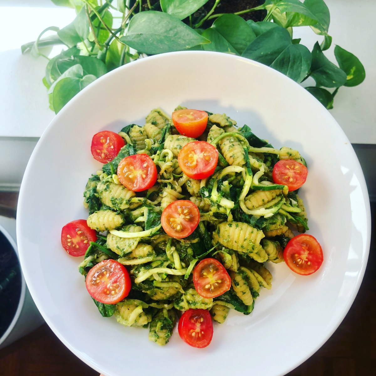 Chickpea Gnocchetti with Creamy Avocado Pesto Sauce