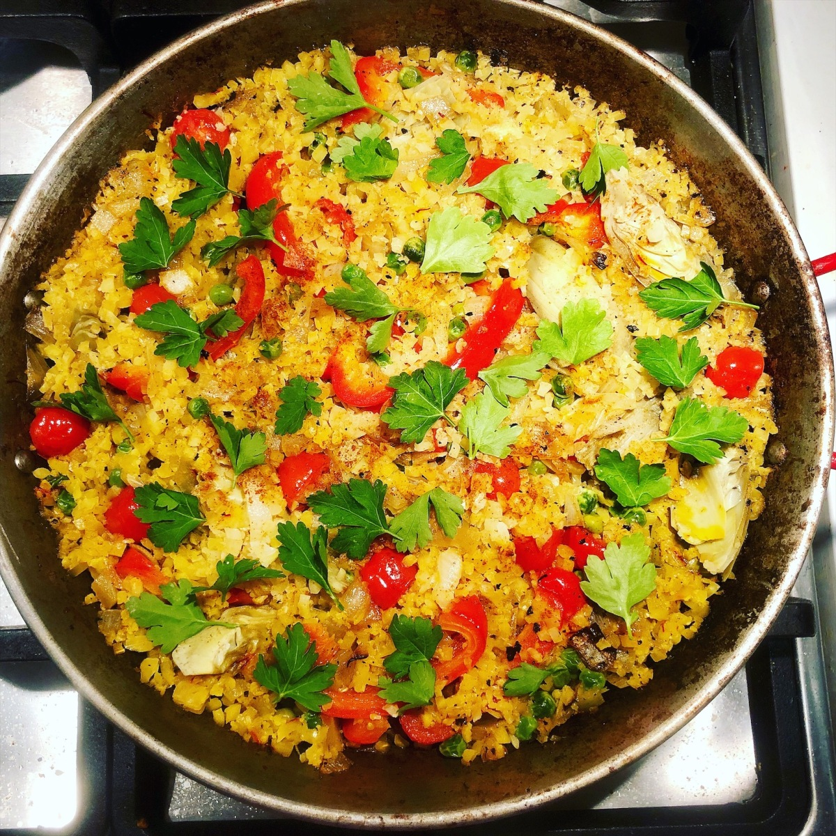 Veggie Cauliflower Rice Paella 🥘💃🏼