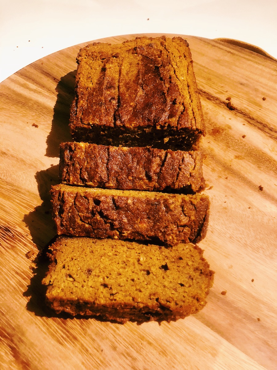 Lite Gluten Free, Dairy Free, Added Sugar Free Pumpkin Bread